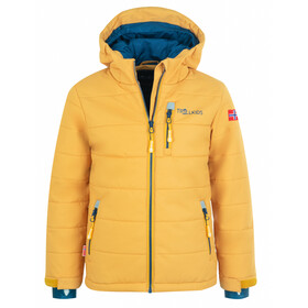 TROLLKIDS Hemsedal XT Snow Jacket Kids, golden yellow/mystic blue